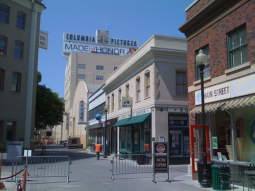 The buildings on the historic columbia studios lot now owned by sony